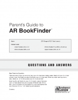 AR Book Finder Parents Guide