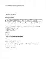 Informational Letter