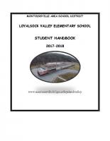 Loyalsock Valley Elementary Student Handbooks 17-18