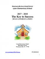 Lyter Elementary School Handbooks 17-18