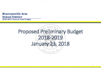 2018-2019 Proposed Preliminary Budget