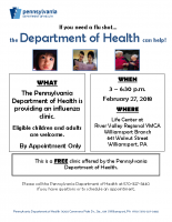 NC Lycoming Flu Clinic Life Ctr Valley Reg YMCA_2.27.18
