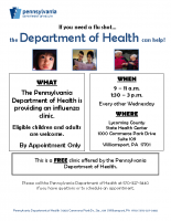 NC Lycoming Flu Clinic Lycoming SHC_Evry other Wed