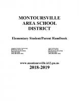 Elementary Student Handbook 2018-2019